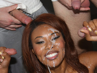 Kymora Lee Interracial Gangbang Pictures
