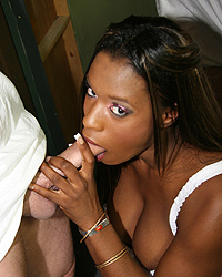 Milan Sterling - Hot black girl gets face covered in redneck cum